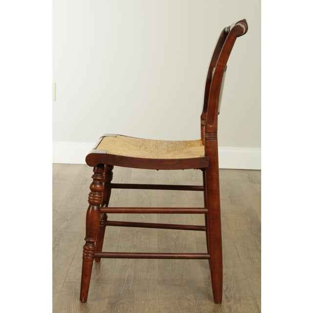 "Hitchcock Hitchcock Norman Rockwell ""Freedom of Worship"" Limited Edition Side Chair For Sale - Image 4 of 13"