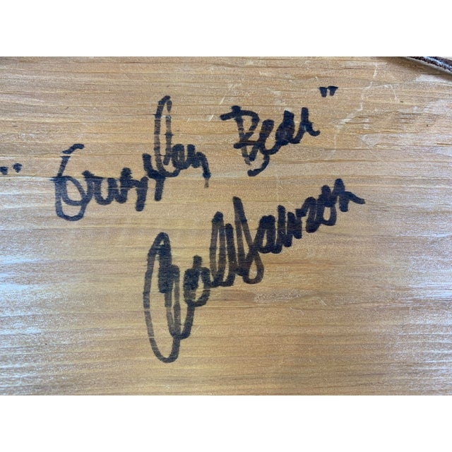 Cecil Dawson Native Northwest Grizzly Bear Painted Wood Carving, Signed For Sale - Image 10 of 13