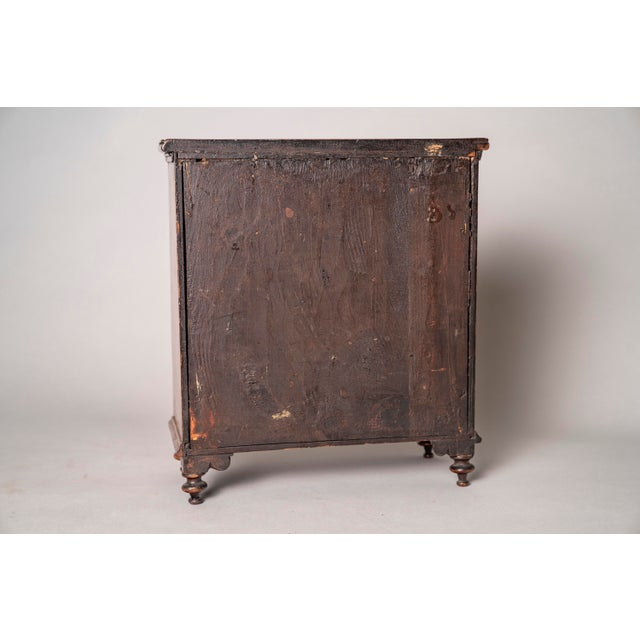 C 1820 English Model of Cherry Wood Chest of Drawers Apprentice Piece and Salesman Sample For Sale - Image 4 of 8