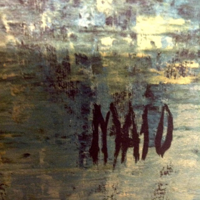 Abstract Mid-Century Maio Harbor Diptych Print For Sale - Image 3 of 4
