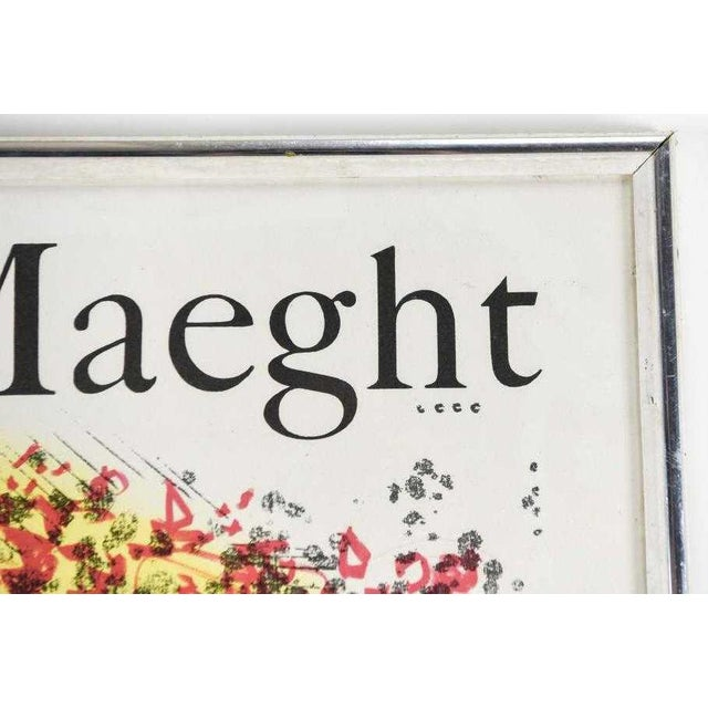1960s Marc Chagall Vintage Exhibition Poster 1969 1970 Galerie Maeght Mourlot For Sale - Image 5 of 6