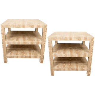 Pair of Faux Bois Side Tables For Sale