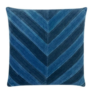 """Piper Collection Blue Chevron """"Ryan"""" Pillow For Sale"""