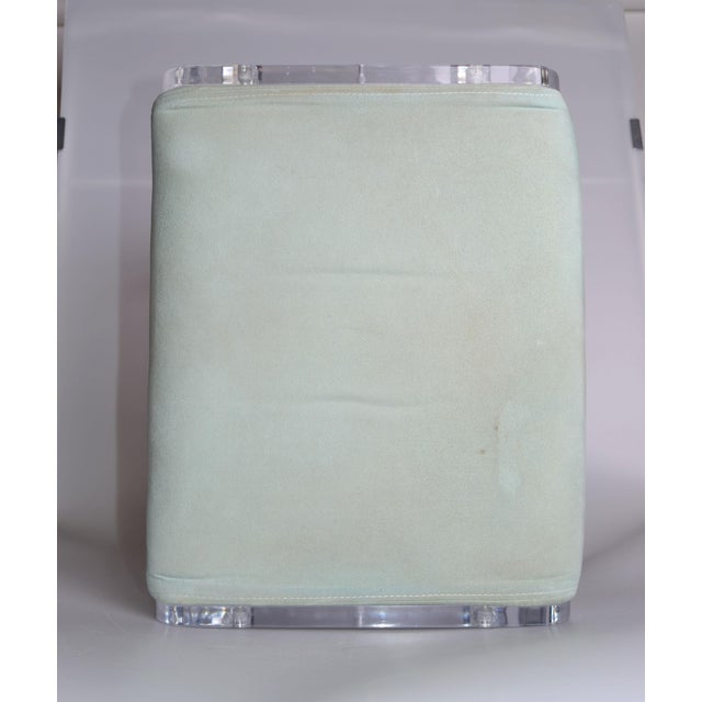 Mid-Century Modern Lucite Stool On Casters For Sale - Image 7 of 10