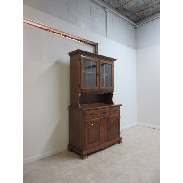 Chippendale Vintage Maple Chippendale Carved China Cabinet For Sale - Image 3 of 11
