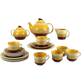 C.1930 Susie Cooper Tea Set - Set of 21
