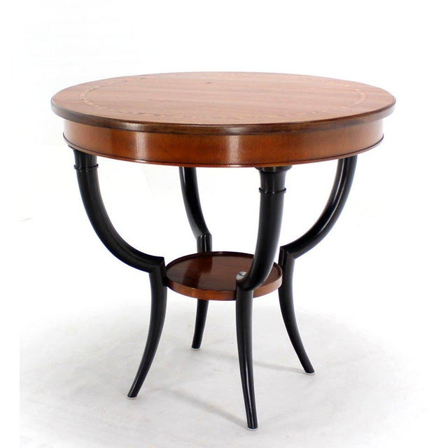 Baker Two-Tone Round Gueridon or Center Drum Table For Sale In New York - Image 6 of 10