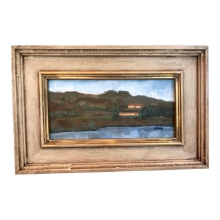 Twin Brothers, Napa Marina Plein Air Landscape Painting For Sale