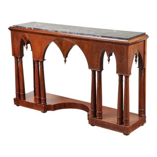 Early 19th C French Charles X Mahogany Console For Sale