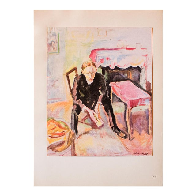"1948 Othon Friesz, Original Period Lithograph ""Portrait De Fernand Fleuret"" For Sale"