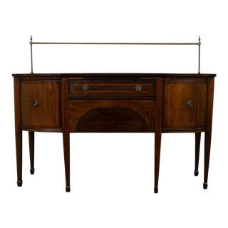 1900s Edwardian Hepplewhite Mahogany Sideboard For Sale