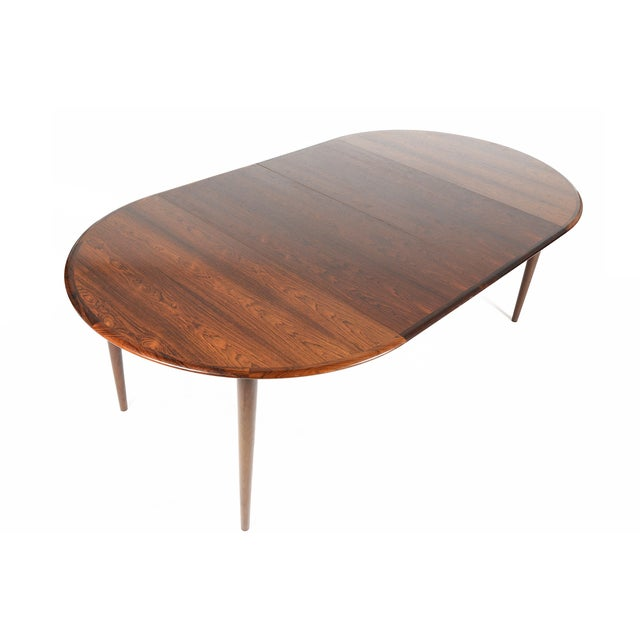 Rosewood Circular Dining Table With Two Leaves - Image 8 of 10