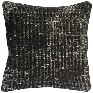 Vintage Handmade Black Overdyed Pillow Cover For Sale