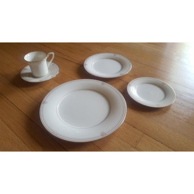 Art Deco Noritake Satin Gown Dinnerware - Service for 12 For Sale - Image 3 of 13