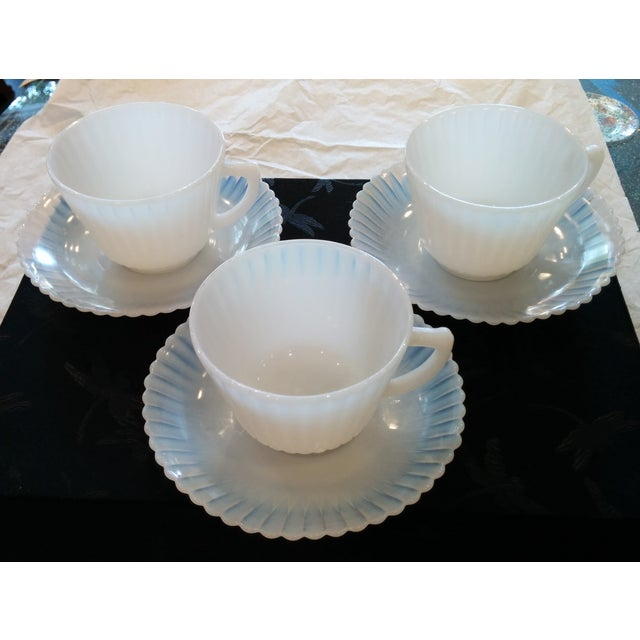1920s Petalware Teacups and Saucers - Set of 3 - Image 2 of 9