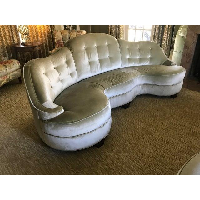 Art Deco Vintage Elsa Schiaparelli Art Deco Curved Sofas - a Pair For Sale - Image 3 of 13