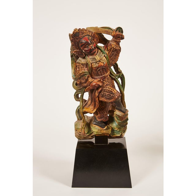 Pair of 20th Century Taiwanese Deity with Stand - Image 3 of 9