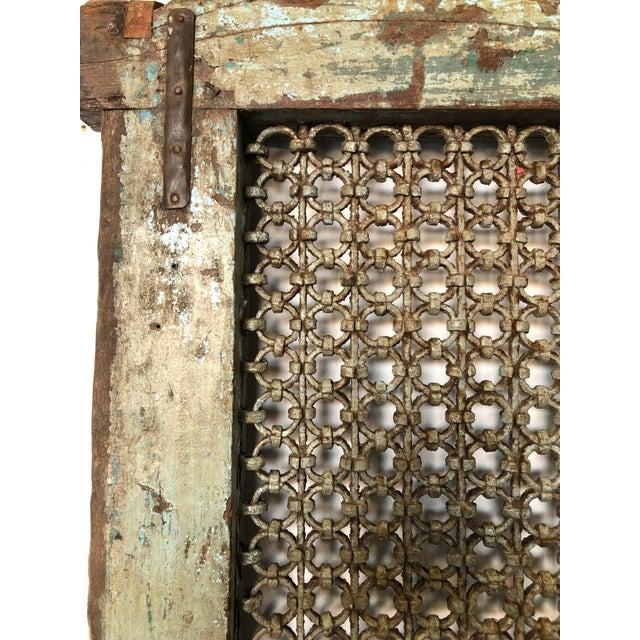 Antique Wood & Iron Ventilation Window For Sale - Image 4 of 6