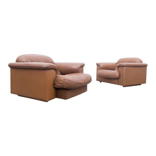 Pair of Adjustable DS 101 Lounge Chairs by De Sede For Sale