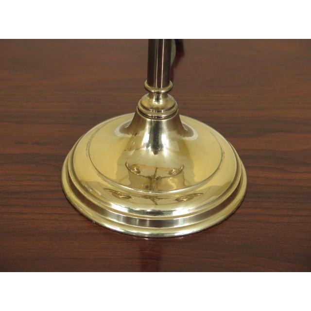 Brass Double Candelabra Trumpet Arm Desk Lamp For Sale In Philadelphia - Image 6 of 9