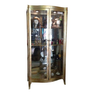 Large Curved Glass Doors Vitrine/ Display/China Cabinet For Sale