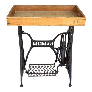 Antique Iron Singer Bar W/ Removable Tray Inlaid W/ Vintage Romantic Sheet Music For Sale