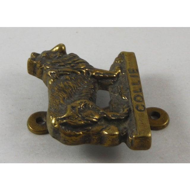Brass Collie Dog Door Knocker - Image 4 of 4