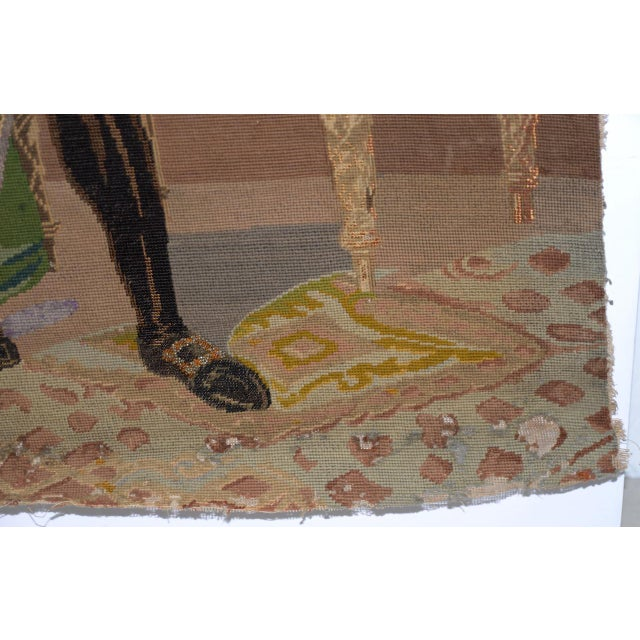 George Washington Hand Embroidered Tapestry c.1850s Finely hand embroidered tapestry of George Washington. Though...