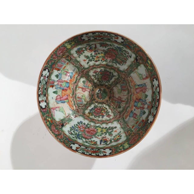 Asian 19th Century Asian Antique Rose Medallion Bowl on Stand For Sale - Image 3 of 6