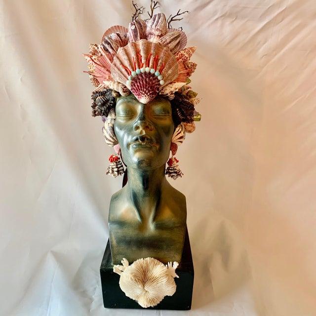 Black Memsaab Ungawa Ll African Princess Sculpture For Sale - Image 8 of 8