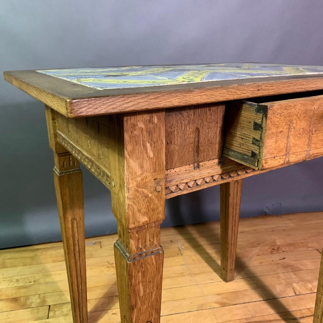 Early 20th Century Louis XVI Style Kellinghusen Tile Top Table For Sale - Image 9 of 11