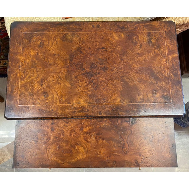 Burl Veneered All Sides 4-Drawer Chest For Sale In Tampa - Image 6 of 11