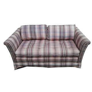 Hendredon Plaid Loveseat/Couch For Sale