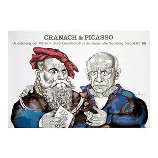 Vintage Prechtl Picasso & Cranach Poster