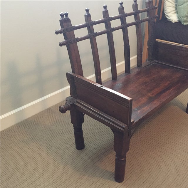 Antique Indonesian Bench - Image 3 of 8