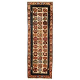 "Traditional Pasargad N Y Shirvan Design Lamb's Wool Rug - 2'7"" X 7'10"""