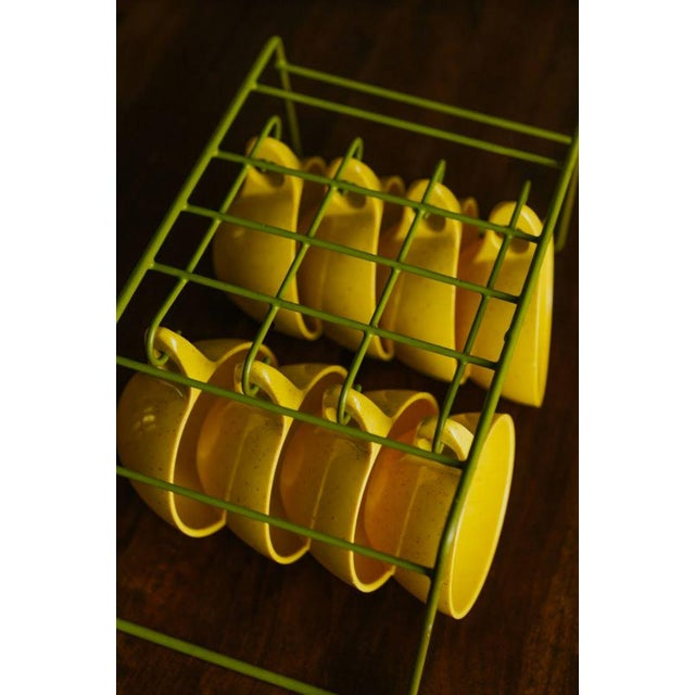 Holiday by Kenro Yellow Cups and Saucers - Set of 10 For Sale - Image 9 of 10