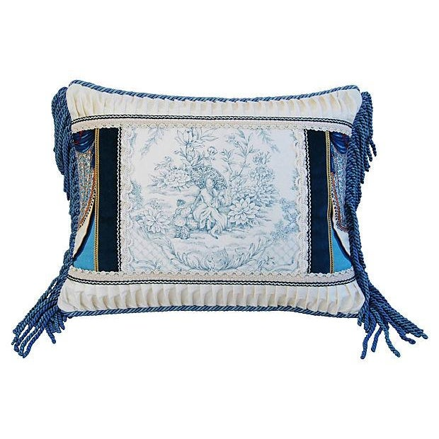 Designer Kravet Blue & White Chinoiserie Pillow - Image 2 of 5