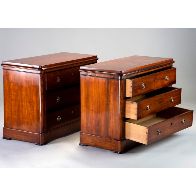 English Traditional Pair Mahogany Chests With Black Detailing For Sale - Image 3 of 11