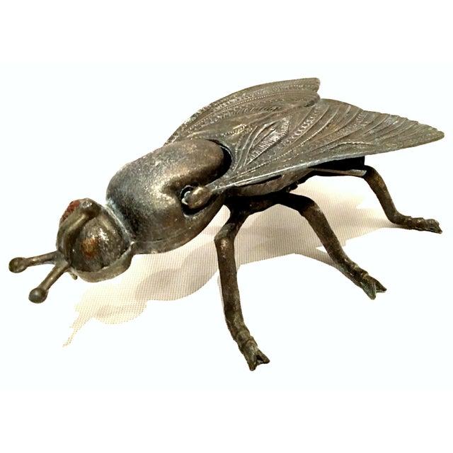 Brass Mid-20th Century Art Nouveau Iron & Brass Figural Fly & Shrimp Sculpture-a Pair For Sale - Image 8 of 13