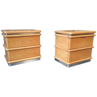 Mid 20th Century Jay Spectre Nightstands - a Pair For Sale