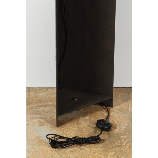 Brown Paul Marra Textured Steel Solitaire Floor Lamp For Sale - Image 8 of 8