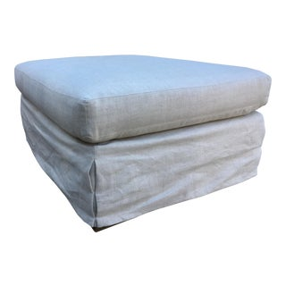 Restoration Hardware Slipcovered Ottoman