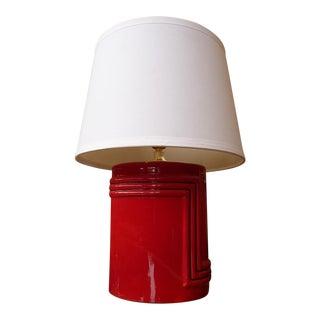 Vintage Cherry Red Retro Table Lamp
