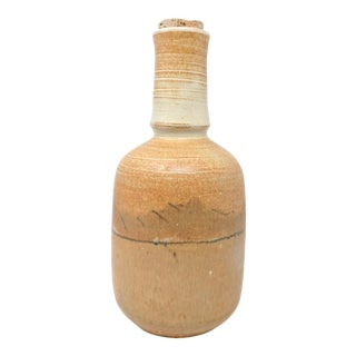 Vintage Studio Pottery Bottle With Stopper For Sale