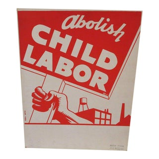 1939 Socialist Child Labor Poster by Rebel Arts Group, New York For Sale