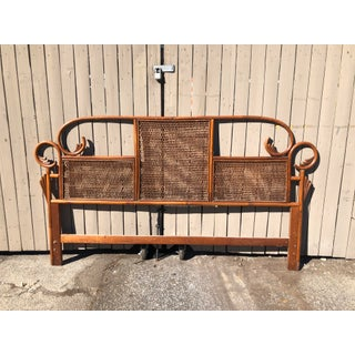 Vintage Rattan Bentwood Pagoda King Headboard Preview