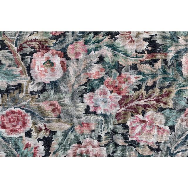Hand-Knotted Floral European Design Runner Rug Floral - 2′6″ × 12′ - Image 3 of 5