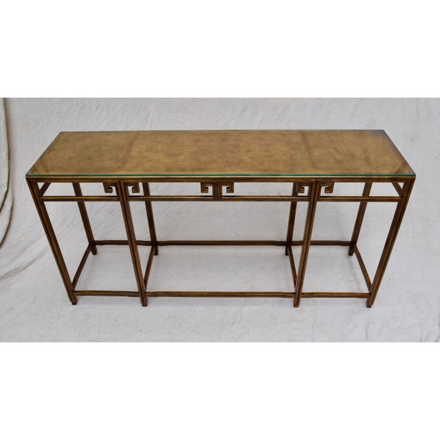 """Mid 20th Century Baker Burlwood Console Table, """"Far East"""" Collection"""" For Sale - Image 5 of 13"""