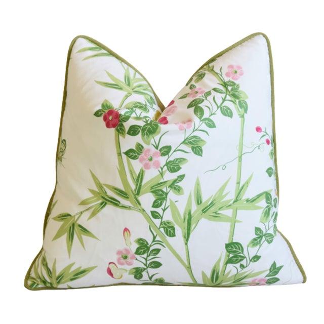 """Scalamandre Scalamandré Floral De Jardin Chine Feather/Down Pillow 20"""" Square For Sale - Image 4 of 6"""